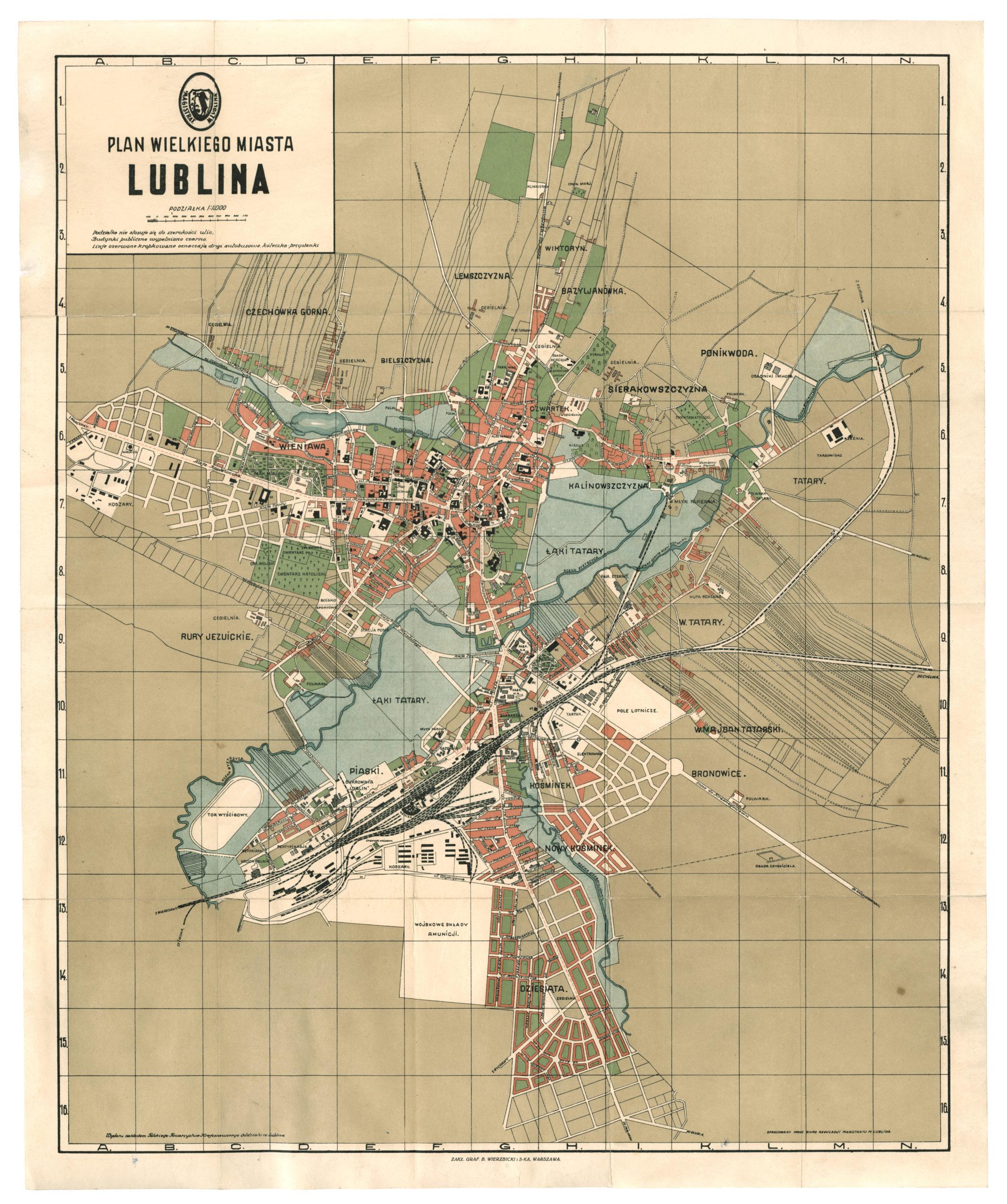 plan Lublina z 1931 roku