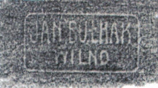 Napis Jan Bułhak Wilno