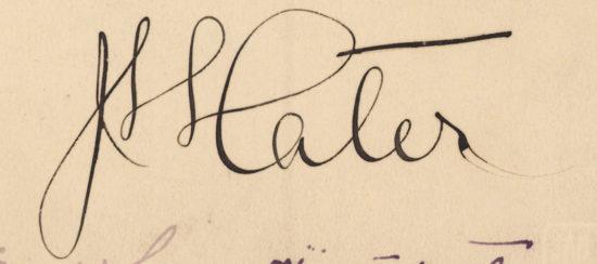 Podpis odręczny generała Hallera
